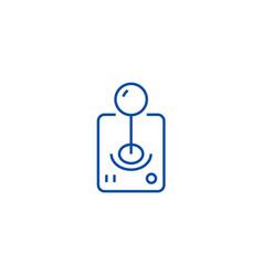roll joystick line icon concept roll joystick vector image