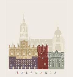 Salamanca skyline poster vector