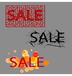 sale set of three tag vector image