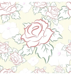 seamless pattern consisting of flowers vector image