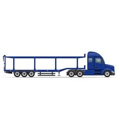 Semi truck trailer 16 vector