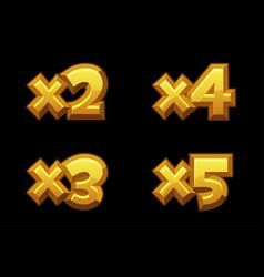 Set bonus gold multiplied numbers for game vector