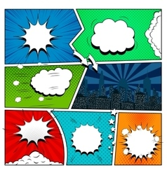 Set of comic book design elements vector