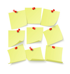Set yellow stickers with space for text vector