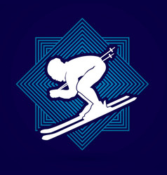skier action graphic vector image