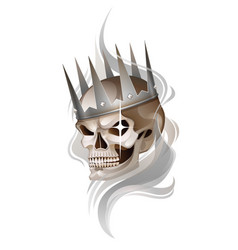Skull in the crown vector