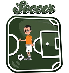 Soccer design elements vector