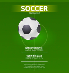 Soccer design of flyer soccer european football vector