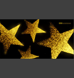 star background design with glowing particles vector image