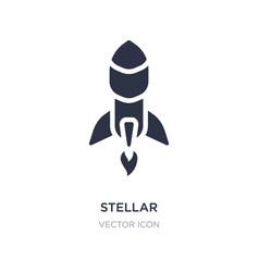 Stellar icon on white background simple element vector