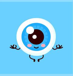 strong cute healthy happy human eyeball vector image