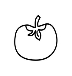 tomato web icon in line art style vector image