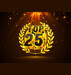 Top 25 best podium award sign golden object vector