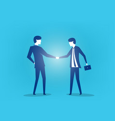 two business man shaking hands art vector image
