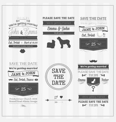 Wedding save date vector