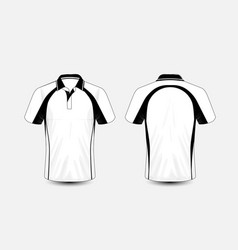 White and black layout e-sport t-shirt design vector