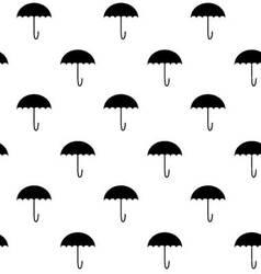 Black white pattern umbrella vector image