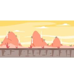 Cartoon Hills Game Background vector image vector image