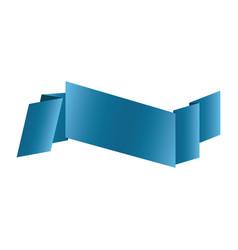 colorful shiny satin ribbon icon decorative vector image vector image