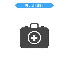 first aid kit icon medicine chest icon vector image