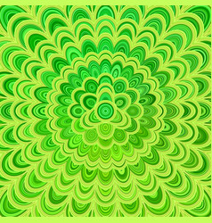 green abstract floral mandala background - vector image