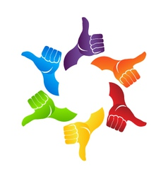 Thumb up hands vector image