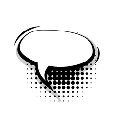 Blank template comic speech oval lines bubble vector image vector image