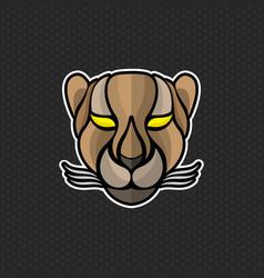 cheetah logo design template cheetah head icon vector image vector image
