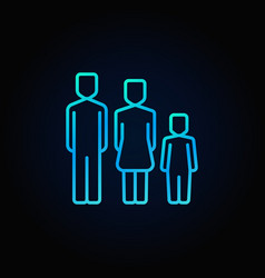 family blue icon vector image