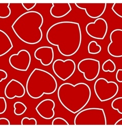 heart seamless repeated vector image vector image
