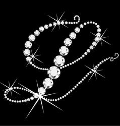 L italic with diamonds vector image