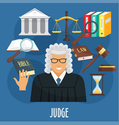 Poster of judge profession or advocacy vector