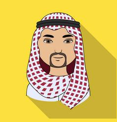 arabhuman race single icon in flat style vector image vector image