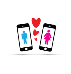 dating app for men and women vector image vector image