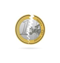 euro crack color vector image vector image