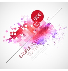 Modern background with watercolor blot vector image