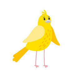 cute cartoon canary bird icon vector image