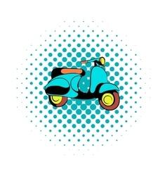 Motorcycle blue comics icon vector image vector image