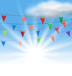 Multicolored Buntings Flags Garlands vector image vector image