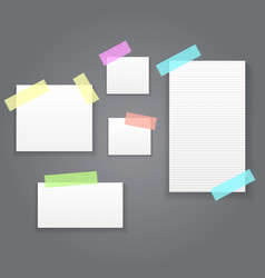 sticky paper notes pack collection set vector image