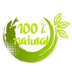 100 natural Brush calligraphy vector