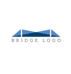 Abstract bridge logo design template vector