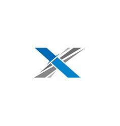Alphabet x knife sword design vector
