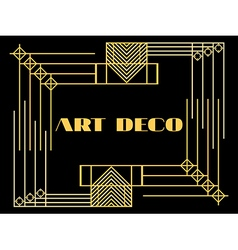 Art deco geometric vintage frame style 1920s 1930 vector image