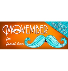 Banner Mustache Season vector