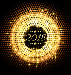 beautiful glitter glowing 2018 new year party vector image