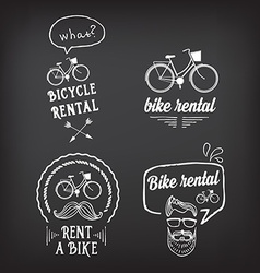 Bike rental design concept vector image