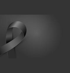 black awareness ribbon poster terrorism death vector image