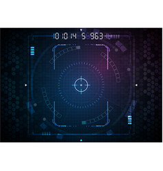 Blue pink rectangle gaming interface digital vector