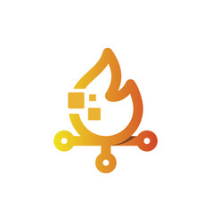 bonfire tech vector image